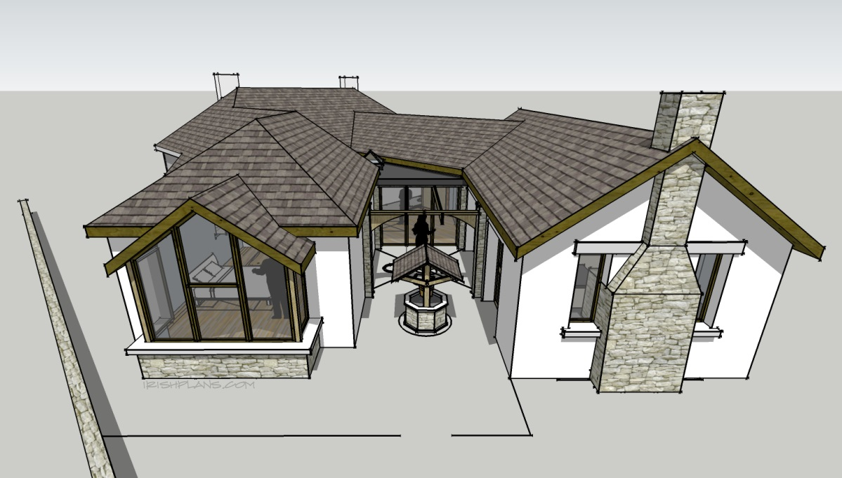 Architects houseplans house plans extensions for Irish cottage plans