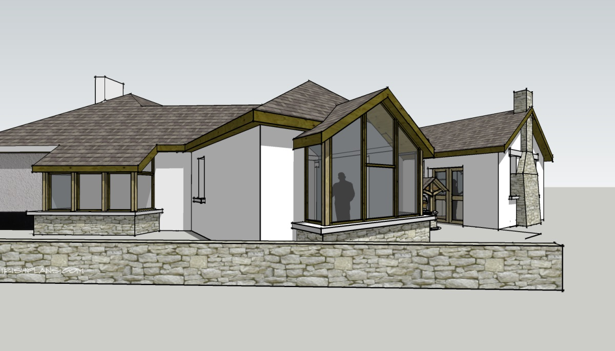 Architects houseplans house plans extensions for House extension drawings