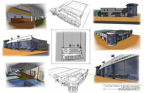 car_showroom_ballymahon1 proposed car showrooms and motor dealership architects design