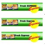 fresh express logo design to supermacs nationwide
