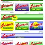 fresh express logo design and menu board concepts for supermacs