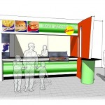 fresh express logo design and concept drawings for supermacs
