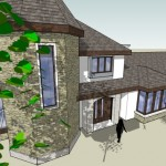 two storey house extension for private client at Athleague