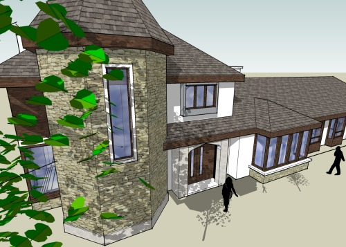 Creative Design Two Storey House Extension For Private