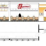Interior design and logo branding for restaurant takeaway