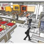 Interior architecture and design colour scheme for eyre sq.