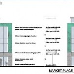 Retail, residential apartment development at Market place, Ennis