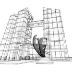 Midlands Gateway development high tech office tower concept