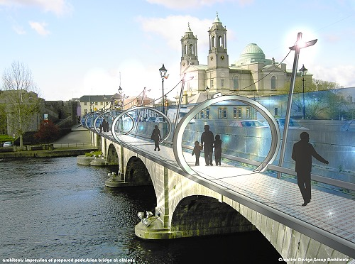 pedestrian-bridge-athlone1 pedestrian bridge concept for athlone architects design