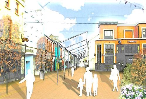 proposal-for-churchst-athlone1 pedestrian proposal for church st. athlone architects design