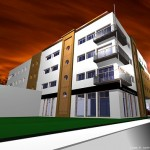 weavers hall apartment, retail development at market square longford