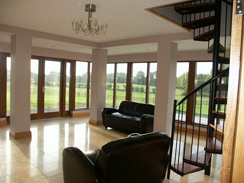 internal view from music room to contemporary vernacular home ...