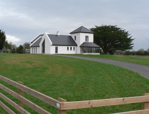 View From Road Of Vernacular Country House Design