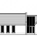 planning permission drawings to contemporary vernacular home