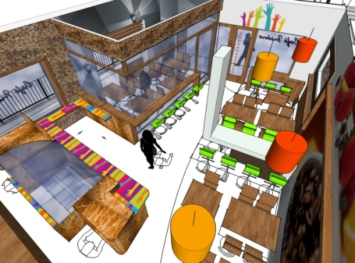 Creative Design Proposed Coffee Shop To Retail