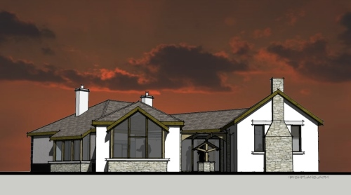 home-extension-for-private-client-architectural-drawings-by-brendan-lennon-1 courtyard extension to rear of home architects design