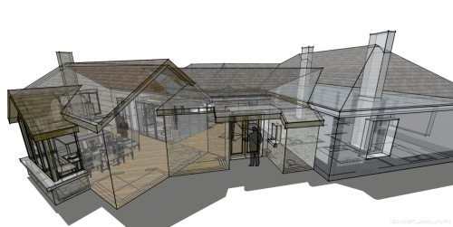 courtyard house extension for private client architectural drawings by architect athlone