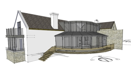 Vernacular Circular House Extension With Internal Court Architectural Designs By Architect Athlone