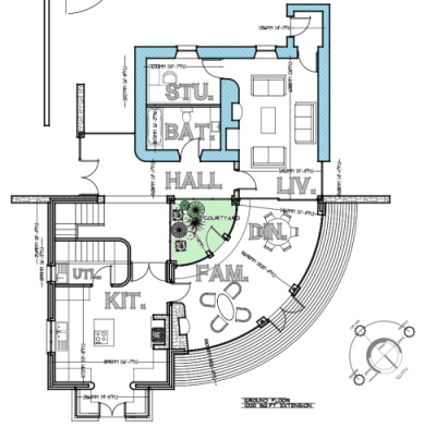 vernacular-circular-home-extension-with-internal-court-for-private-client-architectural-drawings-by-brendan-lennon-2 vernacular circular home design with internal courtyard architects design