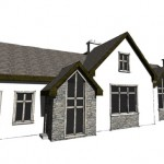 architects house plans for extension to existing bungalow