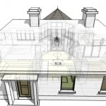 architects contemporary house design for extension to existing building