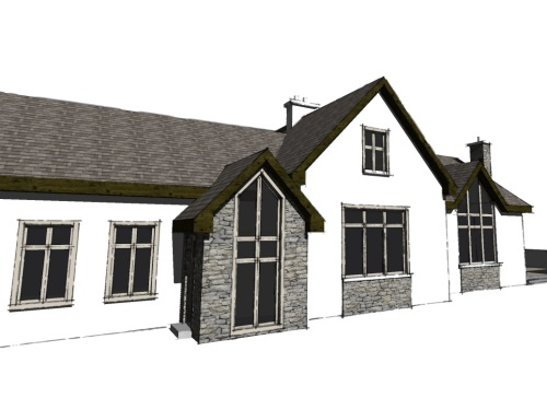 Creative design architects house plans for extension to for Dormer bungalow house plans ireland