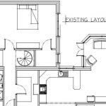 existing layout as measured onsite with previously built extensions to home and rooms 'off room'