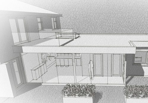 b&w architects impression of proposed extension