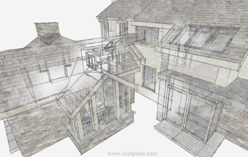 architects-plans-and-elevations-to-proposed-new-living-space-with-open-plan-layout-courtyard-and-exposed-king-truss-roofs-5 previously featured courtyard style house extension architects design